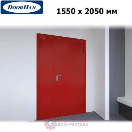 DPG60/1550/2050/7035/R/N Doorhan Дверь противопожарная 1550х2050 двухстворчатая, глухая, правая, EI60 (шт.)