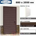 DUB-880/525/8014/9003/N/L Doorhan Дверь УЛЬТРА(B) 880х2050, панель 525 мм, RAL 8014, левая (шт.)