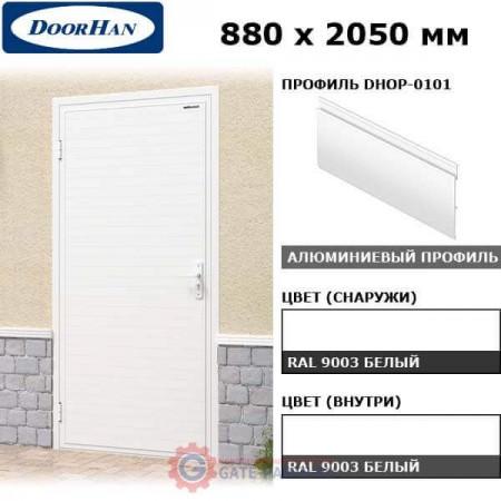 DUB-880/OI/DHOP-0101/N/L Doorhan Дверь УЛЬТРА(B) 880х2050, левая (шт.)