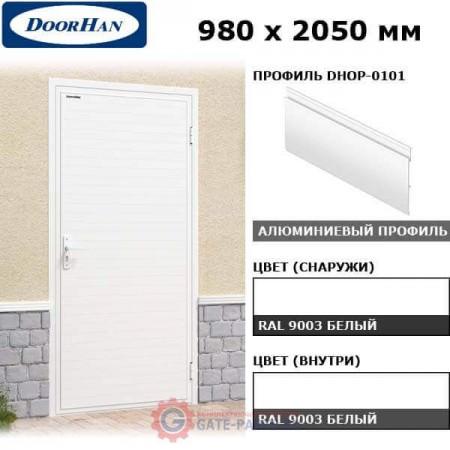 DUB-980/OI/DHOP-0101/N/R Doorhan Дверь УЛЬТРА(B) 980х2050, правая (шт.)