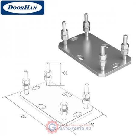 DHS200307 Подставка регулируемая роликовой опоры для балок 138х144х6 и 95х88х5
