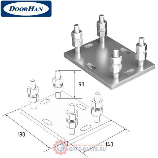 DHS200308 Подставка регулируемая роликовой опоры для балок 71х60х3,5