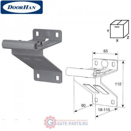 N25008/RAL9003 DOORHAN Верхняя опора с держателем ролика для панелей с новой формой профиля RAL9003 (шт.)