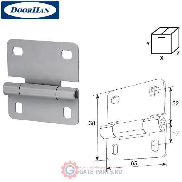 N25233-1/RAL9003 DoorHan Внутренняя петля облегченная для панелей секционных ворот