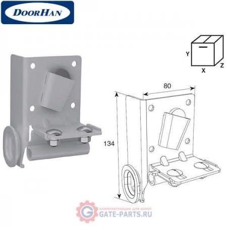 DH25247/RAL9003 DOORHAN Нижний угловой кронштейн регулируемый RAL9003 (пара)