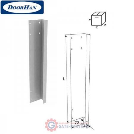 50012RS/RAL9003 DOORHAN Боковая крышка 575мм правая усиленная для панелей с отверстиями для крепления RAL9003 (шт.)