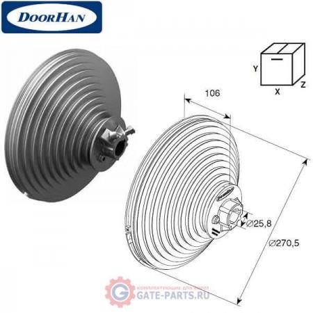 11010 DOORHAN Барабан (OMI 18 VL) для вертикального подъема (пара)