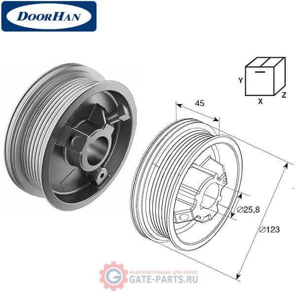 DH11000 DoorHan Барабан М 102, Н 2250 для стандартного подъема (пара)