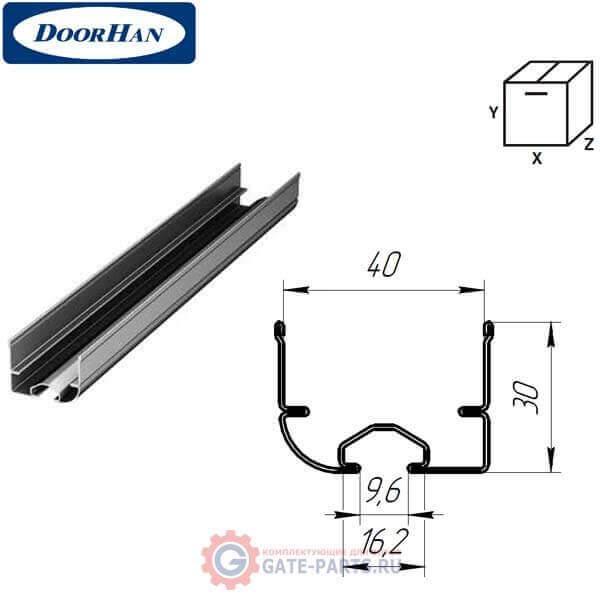 Y42S DoorHan Изгиб стальной для ролика ф38 СВАРНОЙ с П-образным кронштейном модернезированный (пара)