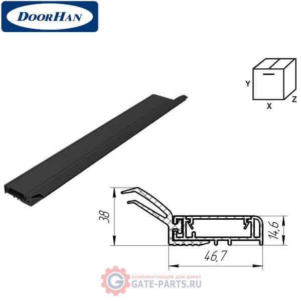 SPV078 DoorHan Внешний уплотнитель секционных ворот L-6000 (черный)