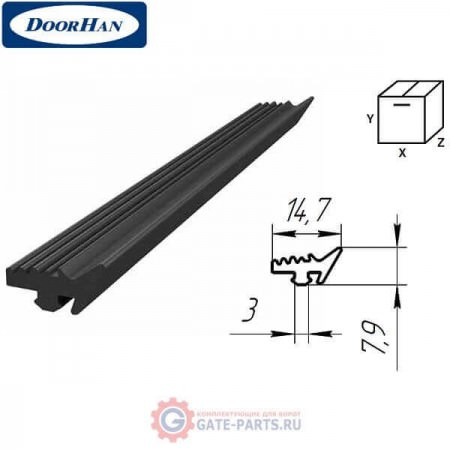 80497 DOORHAN Резиновый уплотнитель внутренний/внешний (п/м)