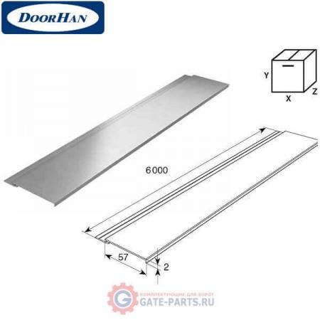 DHOP-0203/M DOORHAN Профиль алюминиевый DHOP-02 золотой дуб (п/м)