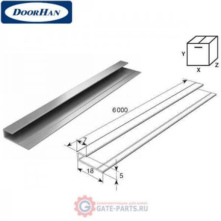 DHOP-0403/M DOORHAN Профиль алюминиевый DHOP-04 золотой дуб (п/м)