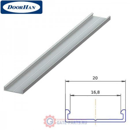 DHOP-160/M DOORHAN Профиль алюминиевый DHOP-16 Основание декоративной накладки металлик муар (п/м)