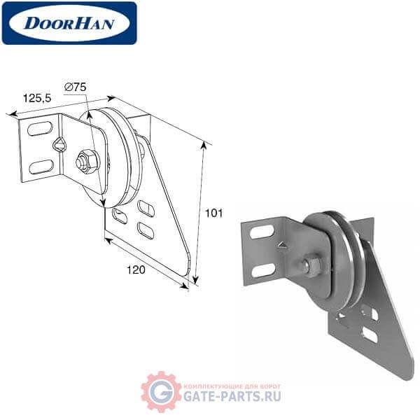 DH24627 DoorHan Кронштейн шкива концевой облегченный в сборе м(пара)