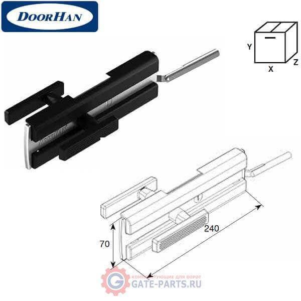 25050K DOORHAN Комплект замка с накладками PD для секционных ворот (комплект)