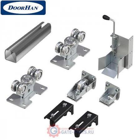 DHS20160 Система роликов и направляющих для балки х/к 95х88х5 L-6000мм (вес ворот до 600 кг)