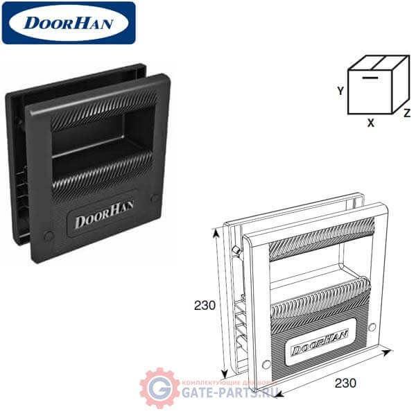 DHF09LG DoorHan Ручка-ступенька для промышленных секционных ворот с логотипом