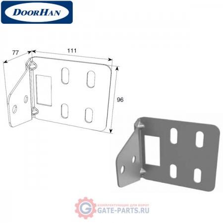 """DH25239 DoorHan Кронштейн угловой для соединения двойных направляющих и """"С""""-профиля"""