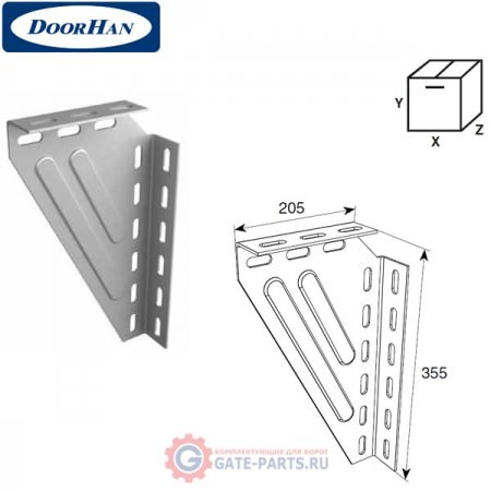 DH24622 DOORHAN Кронштейн угловой универсальный для крепления к потолку (шт.)