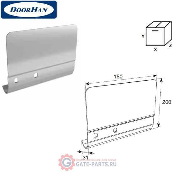 SPV-PT12L DOORHAN Соединительная пластина 200мм для вертикальных направляющих левая (шт.)