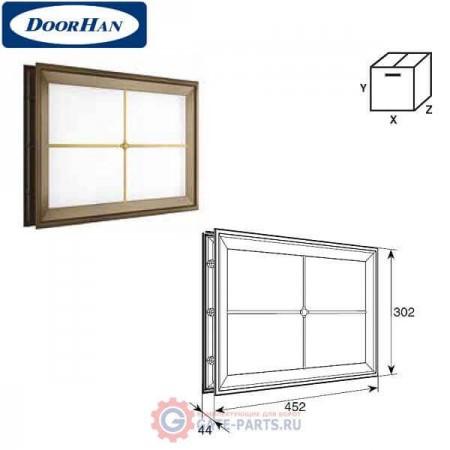 DH85627 DOORHAN Окно акриловое 452х302 белое с раскладкой крест для панелей со структурой филенка (шт.)