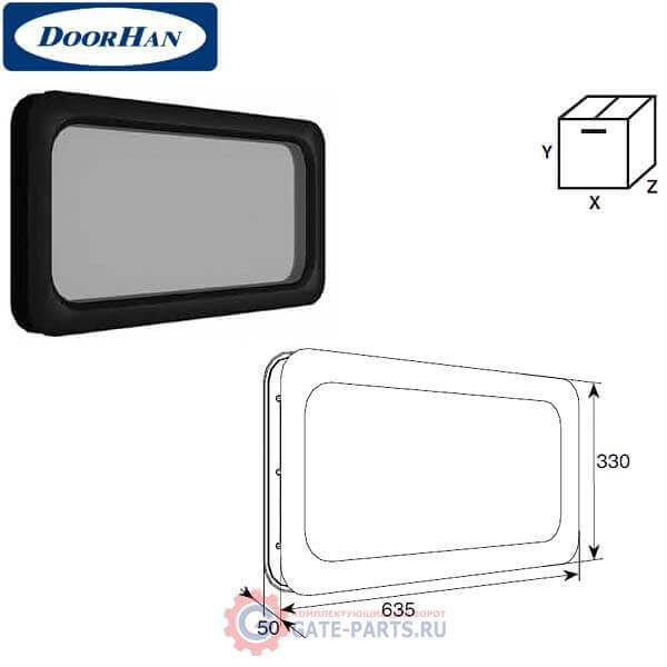 DH85603 DoorHan Окно акриловое 635х330