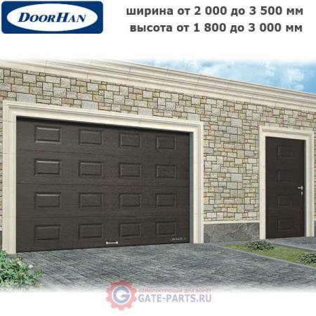 Гаражные секционные ворота серии RSD01 с пружинами растяжения по размерам заказчика