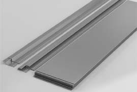 Алюминиевые профили для облицовки полотна ворот