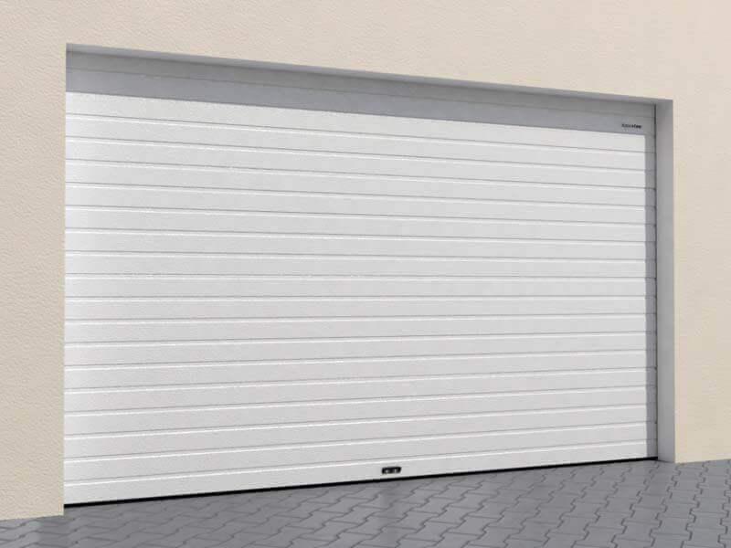 гаражные секционные ворота Rsd02slp из однослойных панелей с